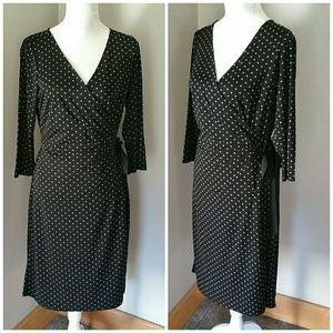 Ann Taylor LOFT polka dot wrap dress. Size 12P